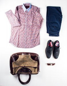 Profession: Fashion Merchandiser | Wardrobe staples: Printed shirts & patterned socks