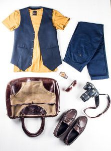 Profession: Photographer | Wardrobe staples: Comfortable slip-on shoes & textured/patterned waistcoats