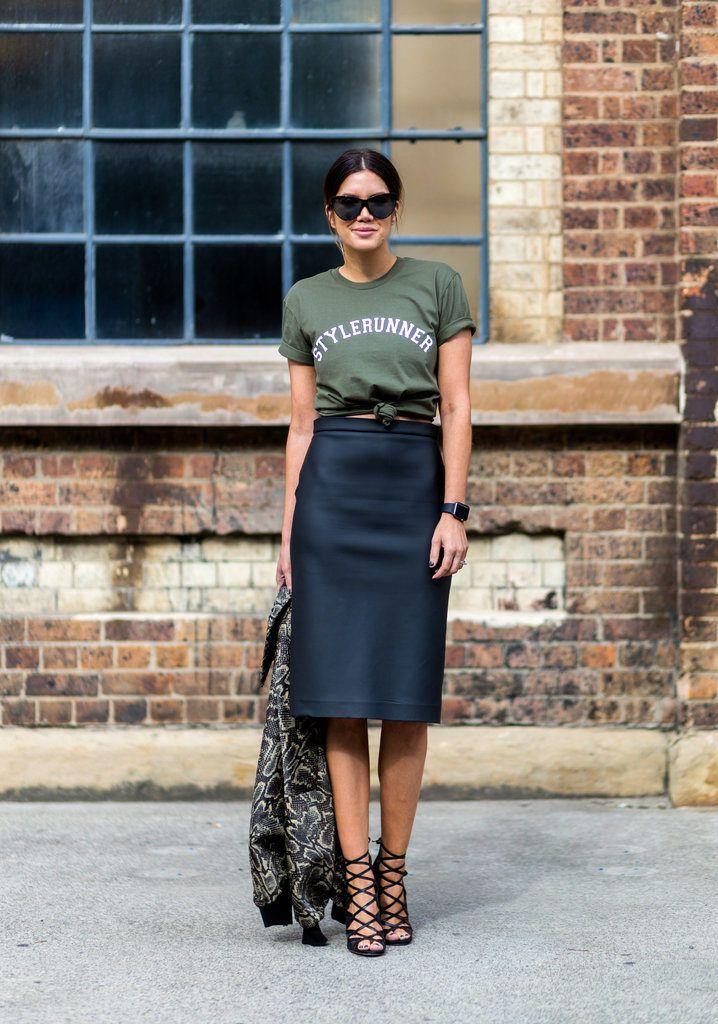 Graphic_Tshirts_Pencil_skirt_Fashion_Style