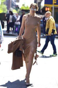 Supermodels_offduty_Gigi_Hadid_Nude_Dress_Fashion_Style