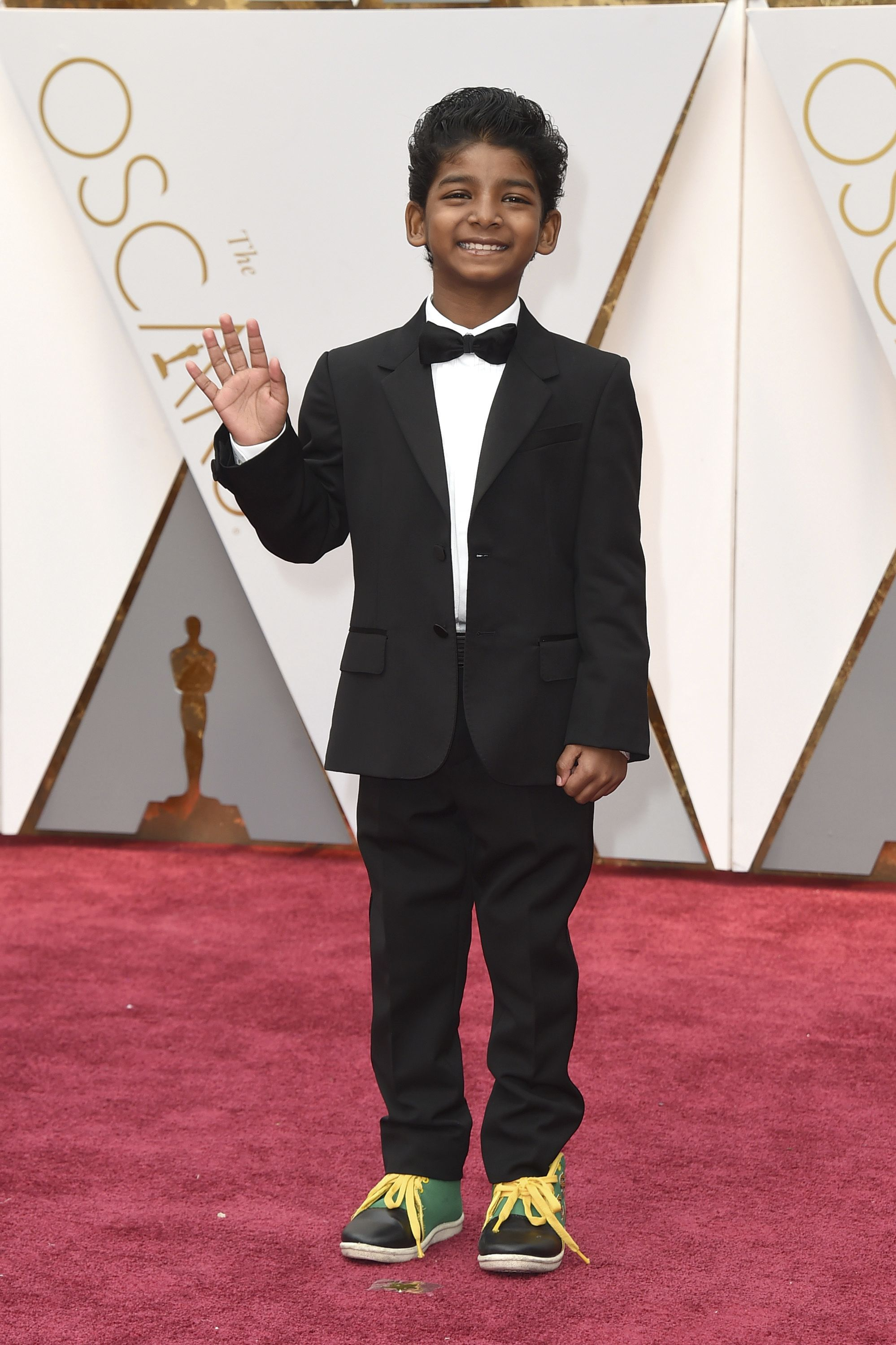Sunny Pawar arrives at the Oscars on Sunday, Feb. 26, 2017, at the Dolby Theatre in Los Angeles. (Photo by Jordan Strauss/Invision/AP)