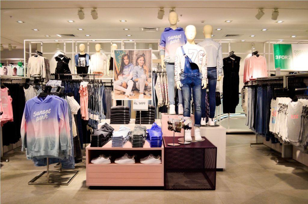 H&M 1 MG Mall Bengaluru Opening - Kids Section