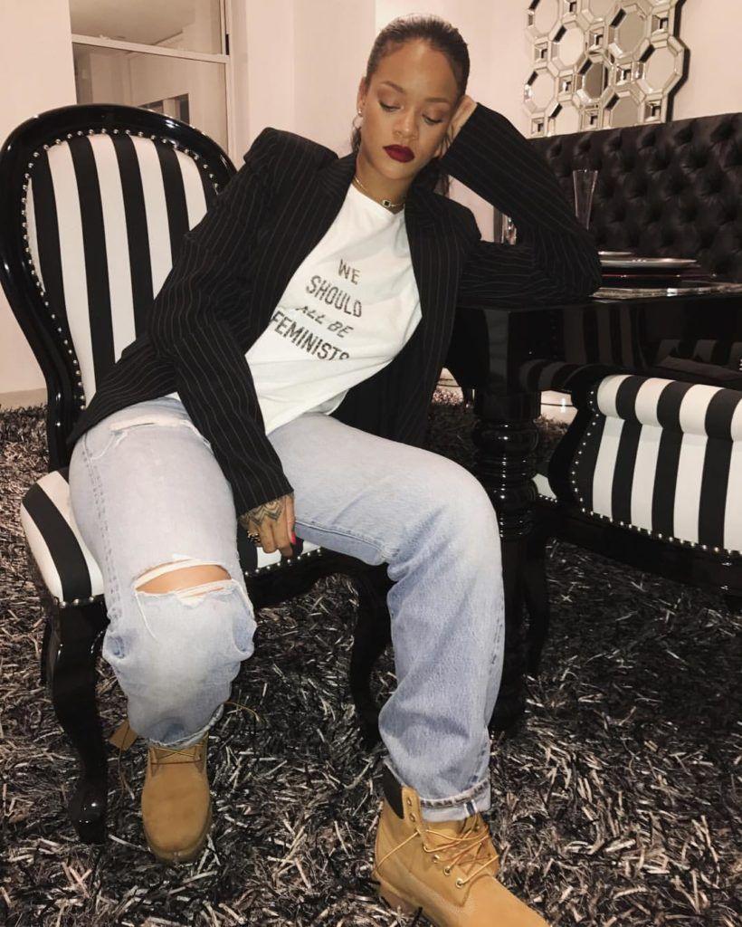 Rihanna in Dior Tee