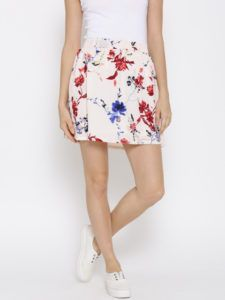 11468235476373-Vero-Moda-Pink-Floral-Printed-Flared-Mini-Skirt-4971468235475826-1