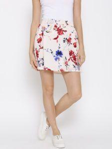 11468235476373-Vero-Moda-Pink-Floral-Printed-Flared-Mini-Skirt-4971468235475826-1
