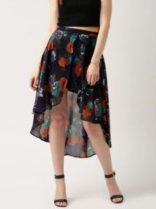 11479462081114-All-About-You-by-Deepika-Padukone-Navy-Floral-Print-Layered-High-Low-Skirt-3791479462080850-2