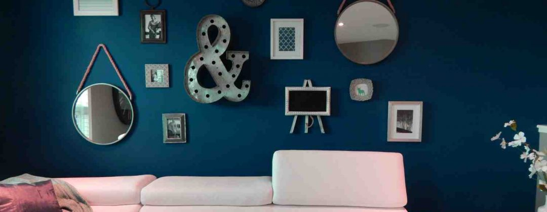 Feature wall decoration to draw attention