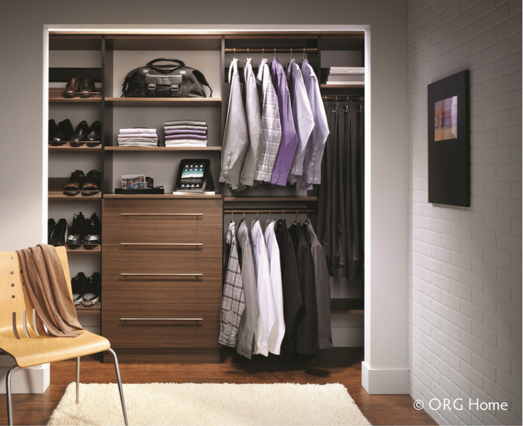 A-minimalist-wall-hung-mens-closet-is-simple-to-find-things