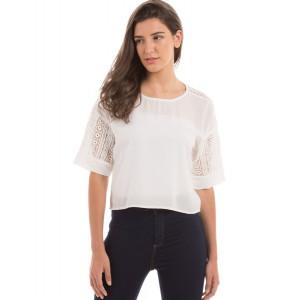 PRYM White Lace Boxy Top