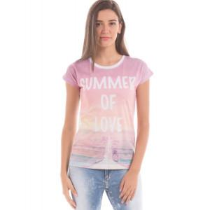 Shuffle White Mix Printed T-Shirt