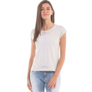 Shuffle Off White Lace Panel Top