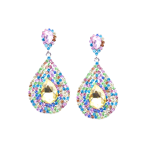Rubans Multi-coloured Rhinestone Drop Earrings