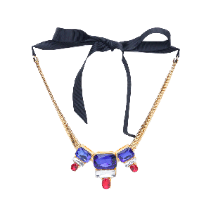 Rubans Colourful Chunky Stone Embellished Statement Necklace