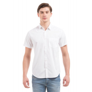 PRYM White Poplin Half Sleeves Shirt