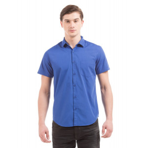 PRYM Prussian Blue Poplin Half Sleeve Shirt