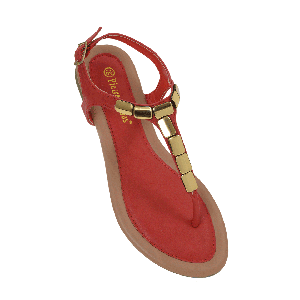 Pierre Dumas Gold-topped Flat Sandals