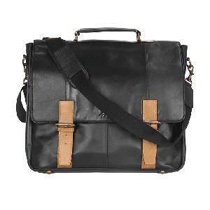 Kaizu Double Buckled Laptop Messenger Bag
