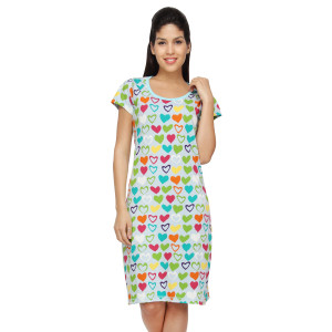 Nuteez 'Flirty' Heart Print Long Tank Top