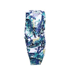 Manoviraj Khosla Blue Draped Dress