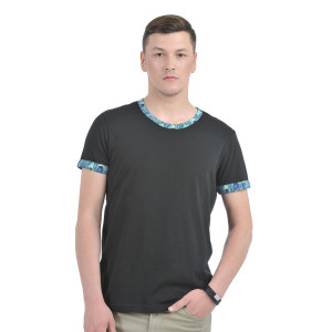 HouseOfFett Black Round Neck T-shirt