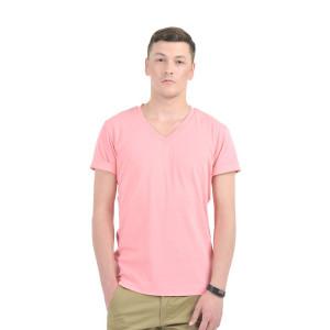 HouseOfFett Pink V-Neck T-shirt