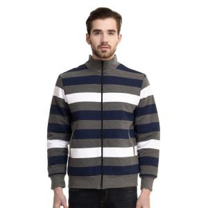 HouseOfFett Classic Striped Zipper Jacket