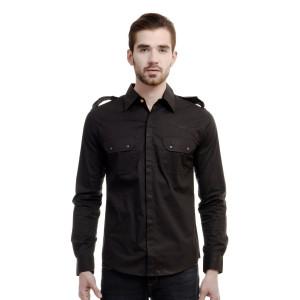 HouseOfFett Black Shirt With Shoulder Mark