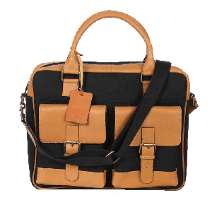 Kaizu Double Patch Pocket Laptop Messenger Bag
