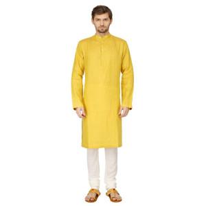 Mayank Modi Yellow Kurta Churidar Set