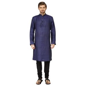Mayank Modi Royal Blue Kurta Churidar Set