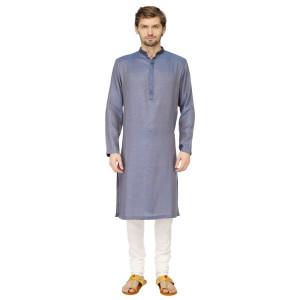 Mayank Modi Blue Kurta Churidar Set