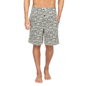 Nuteez Stronger At Night Printed Shorts