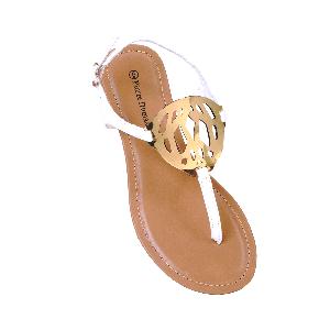Pierre Dumas Flat Sandals with Cutwork Detail