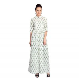 VODKA Pleated printed maxi dress