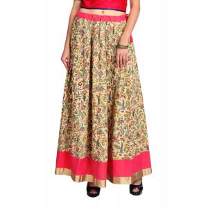 VODKA Floral flared maxi skirt