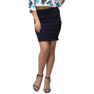 VODKA Blue Lycra Mini Skirt