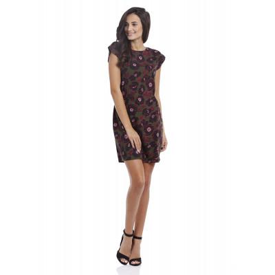 PRYM Floral Print Cap-Sleeve Dress