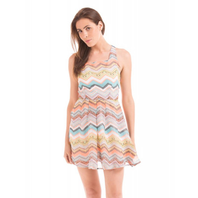 PRYM Printed Dress With Back Bow