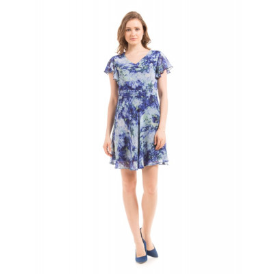 PRYM Blue Printed Skater Dress