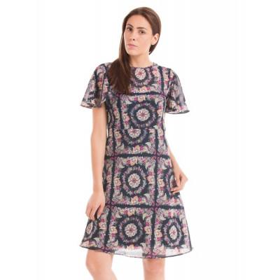 PRYM Multi-coloured Batwing Sleeve dress