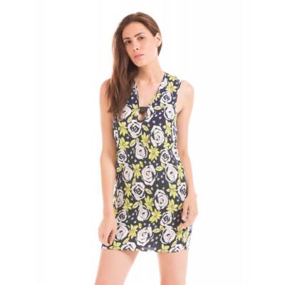 PRYM navy mix floral print shift dress