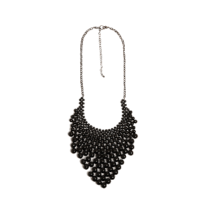 Shuffle Beaded Triangular Necklace