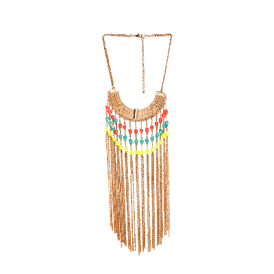 Shuffle Neon Beaded Chain Necklace