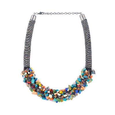 Shuffle Multi Coloured Stone Chips Necklace