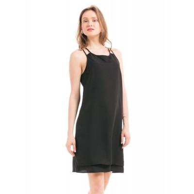 Shuffle Black Double Layered Dress