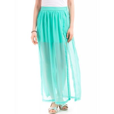 Shuffle Gathered Maxi Skirt