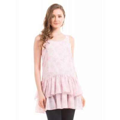 Shuffle Pink Layered Tunic