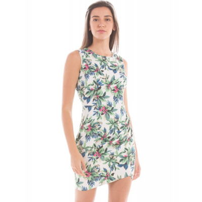 Shuffle Green Mix Floral Dress