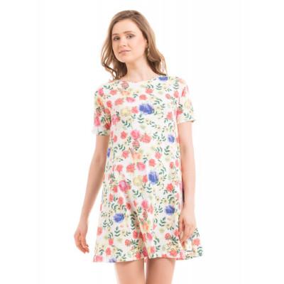 Shuffle Floral Print Swing Dress