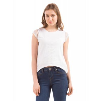Shuffle White Lace Back tank